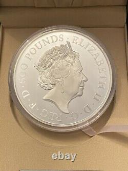 1 kilo The Queen's Beasts Completer 2021 UK 1kg Silver Proof Coin