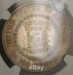 1878 Goloid Metric Silver Dollar $1 US Pattern Coin Judd 1563 NGC Proof Det. WW