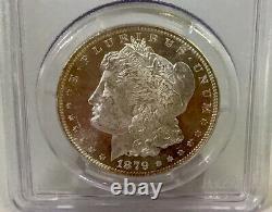 1879-P Morgan Dollar PCGS MS63 DMPL CAC Snow White Deep Mirror Proof Like