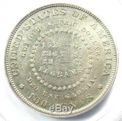 1879 Proof Goloid Pattern Metric Dollar $1 Coin Judd-1627 (J-1627) PCGS PR53