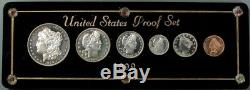 1899 USA Silver Choice Cameo Proof 6 Coin Original Proof Set In Custom Case