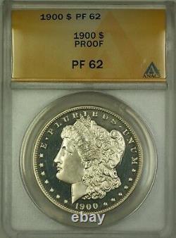 1900 Proof Morgan Silver Dollar $1 ANACS PF-62 (Better Coin)