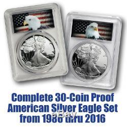 1986-2016 30-Coin Silver Eagle Set Eagle Label PCGS Gem Proof (#10122)