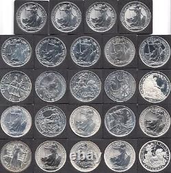 1997 2020 Complete Date Run Silver Britannia £2 24 x Fine Silver Coins Mint