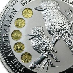 1999 silver Kookaburra Silver Proof Honour Mark coin 1 kilo