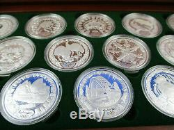 2000 SYDNEY OLYMPIC $5 SILVER PROOF 16 COIN COLLECTION. Heavy item 2 kilos