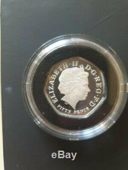 2009 Kew Gardens 50p Silver Proof coin Boxed & certificate Of Authenticity