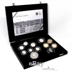 2009 Silver Proof Coin Set Kew Gardens 50p BOX COA Royal Mint (2)