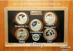 2010- 2020 S 60 SILVER Proof National Park Quarters w2018 Reverse Proof (No COA)