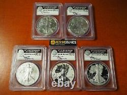 2011 P Reverse Proof Silver Eagle Pcgs Pf69 Ms69 Mercanti 25th Anniversary Set