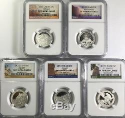 2012 S Proof Silver Quarter Set Ngc Pf70 Ultra Cameo Uc Atb National