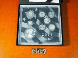 2013 W Proof Silver Eagle Limited Edition Proof Set In Ogp