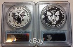 2013-W West Point Set First Strike PCGS MS 70 & PR 70 Reverse Proof Silver Eagle