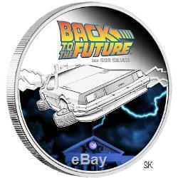 2015 Back to the Future Delorean 1oz Silver Proof Coin