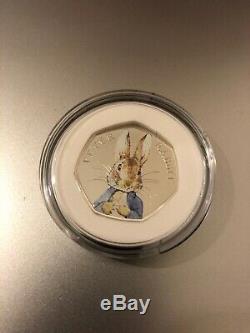 2016 Beatrix Potter Peter Rabbit 50p Fifty Pence Silver Proof Coa Box