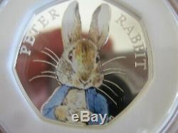2016 Beatrix Potter Silver Proof 50p Set Of 4 by Royal Mint