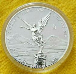 2017 2 oz Silver Libertad REVERSE PROOF Coin in Capsule Mintage of 2,000 ONLY