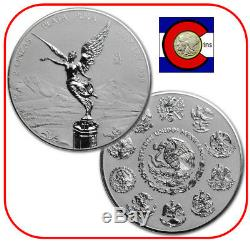 2017 Mexico 2 oz Silver Reverse Proof Libertad Coin 1st Year, only 2000 minted