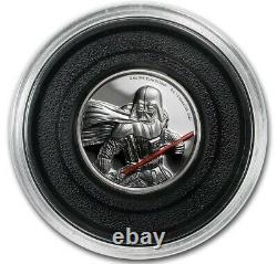 2017 Niue 2 oz Silver $5 Star Wars Darth Vader Ultra High Relief Round Coin