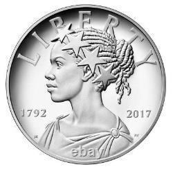 2017 P AMERICAN LIBERTY 225th ANNIVERSARY PROOF 1OZ. BOX COA $188.88