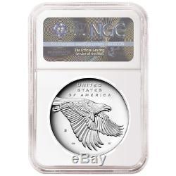 2017-S Proof 225th Ann. American Liberty Silver Medal 1oz NGC PF70UC Flag ER Lab