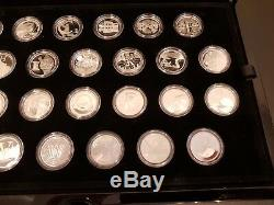 2018 Silver Proof 10p Coins By The Royal Mint Full Set A-Z in Display Case