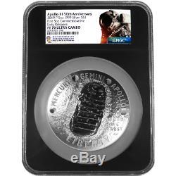 2019-P Proof $1 Apollo 11 50th Ann 5oz. Silver Dollar NGC PF70UC ASF ER Label Re