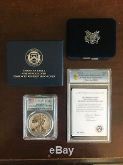 2019-S $1 American Eagle 1oz Silver Enhanced Reverse Proof PCGS PR69 withCOA & Box