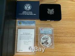 2019-S 19XE Silver Eagle Enhanced Reverse Proof PCGS First Strike PR70 with COA