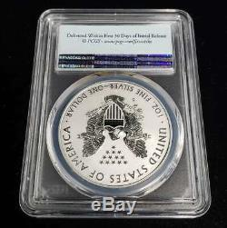 2019 S Silver Eagle PCGS PR70 Enhanced Reverse Proof First Strike withCOA CBX4FS68