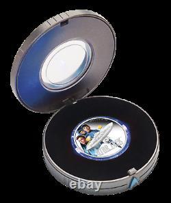 2019 Star Trek ENTERPRISE & CREW 2oz $2 Silver Proof Coin