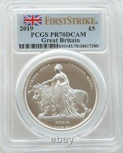 2019 Una and the Lion £5 Pound Silver Proof 2oz Coin PCGS PR70 DCAM First Strike