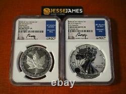 2019 W Enhanced Reverse Proof Silver Eagle Ngc Pf70 70 Moy Pride Of Nations Set