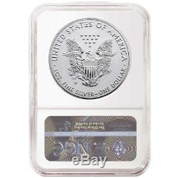 2019-W Reverse Proof $1 American Silver Eagle NGC PF70 Brown Label Pride of Two