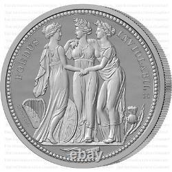 2020 Alderney'The Three Graces' 2oz Silver Proof Five Pounds PCGS PR70 Graded