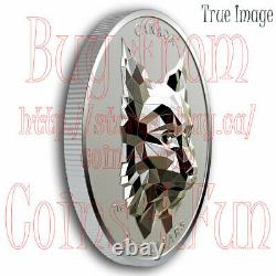 2020 Lynx Multifaceted Animal Head #3 $25 EHR Proof Silver Coin Canada