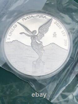 2020 Mexico 5 oz Silver Libertad Proof New
