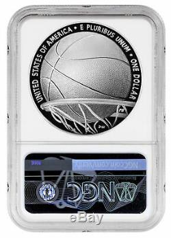 2020 P $1 Basketball Hall of Fame Silver Dollar Proof Coin NGC PF70 FR PRESALE