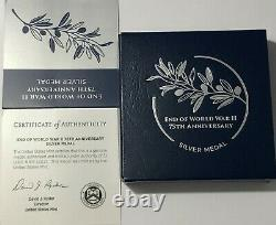 2020 P Ngc Pf70 End Of World War 2 75th Anniversary 1 Oz Silver Medal II Box Coa