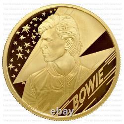 2020 Royal Mint Music Legends DAVID BOWIE Gold Proof Quarter Ounce 1/4oz Boxed