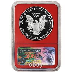 2020-S Proof $1 American Silver Eagle NGC PF70UC FDI Trump Label Red Core