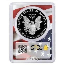 2020-S Proof $1 American Silver Eagle PCGS PR70DCAM Trump 45th President Label F