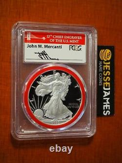 2020 S Proof Silver Eagle Pcgs Pr70 First Day Of Issue Mercanti Engraver Series