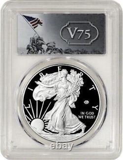 2020-W $1 American Silver Eagle v75 Privy WWII PCGS FS PR69DCAM NR
