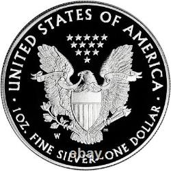 2020 W American Silver Eagle Proof V75 End of World War II (20XF) in OGP