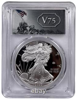 2020 W American Silver Eagle V75 Privy Proof PCGS PR70 DCAM With OGP/COA