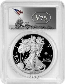 2020-W American Silver Eagle v75 WWII PCGS FS PR70DCAM