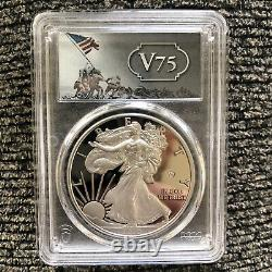 2020-W End of World War II 75th Anniversary Silver Eagle v75 PCGS PR70 SHIPS NOW
