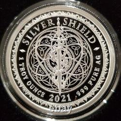 2021 1 OZ. 999 Silver Shield Proof F' Your Freedom Trump 2024 Constitutional