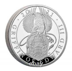 2021 Great Britain £2 1oz Silver Queen's Beasts'GRIFFIN OF EDWARD III' PF70 UC